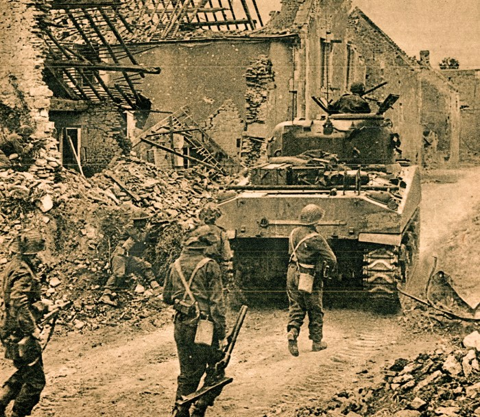 Allied Troops - moving East - 1944
