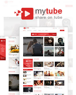 Mytube Video Wordpress Theme Website Template For Youtube