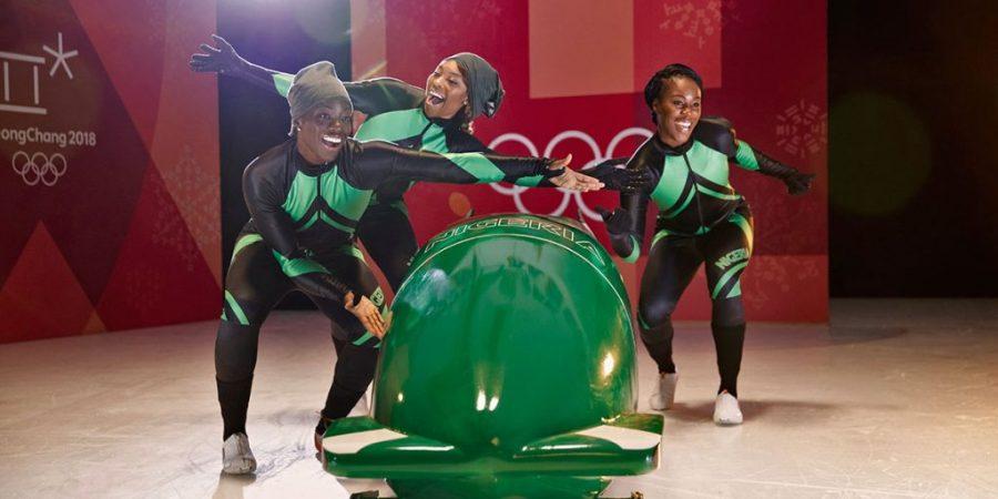 La nazionale femminile di bob nigeriana che prenderà parte alle Olimpiadi di Pyeongchang 2018. Foto: Business Wire.