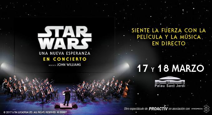 Resultado de imagen de star wars. una nueva esperanza en concierto - barcelona (palau sant jordi), palau sant jordi, 17 de marzo