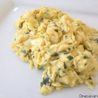 Scrambled Eggs With Fresh Basil And Green Onion