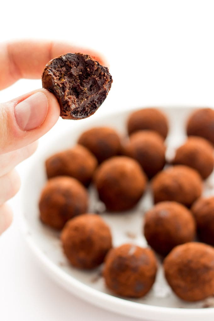 Healthy Chocolate Rum Balls - One Clever Chef