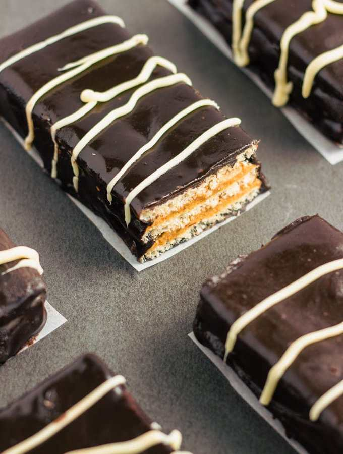 Healthy Homemade Kit Kat Protein Bars