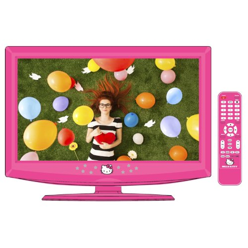 spectra hello kitty 19 lcd tv pc monitor with remote kt2219