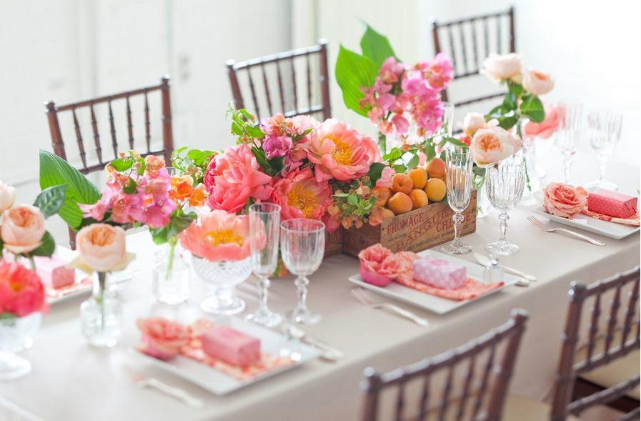 Peonies, roses and bougainvillea by The Caketress via oreeko.com