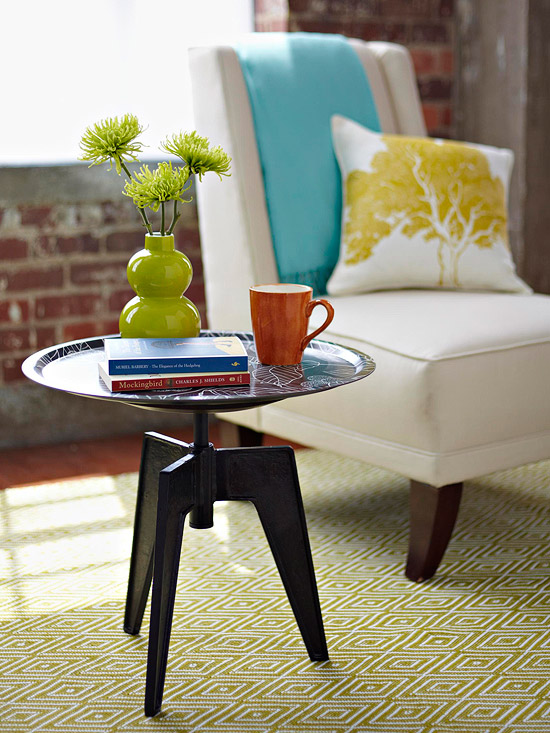DIY Tray Chic Side Table  via oreeko.com