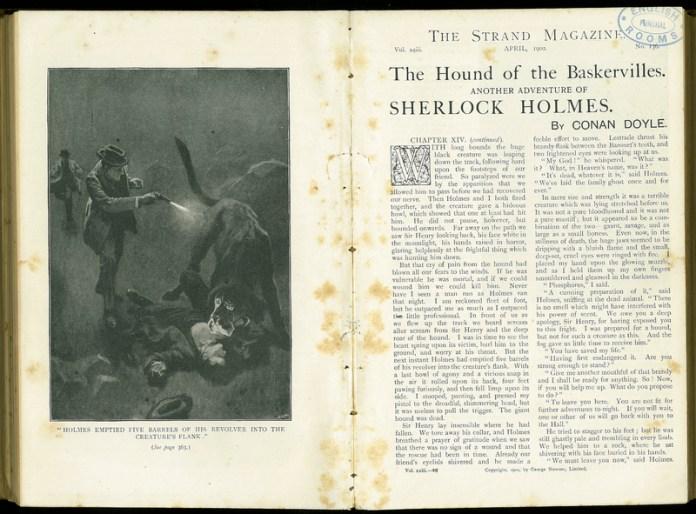 Image result for strand magazine hound of baskerville