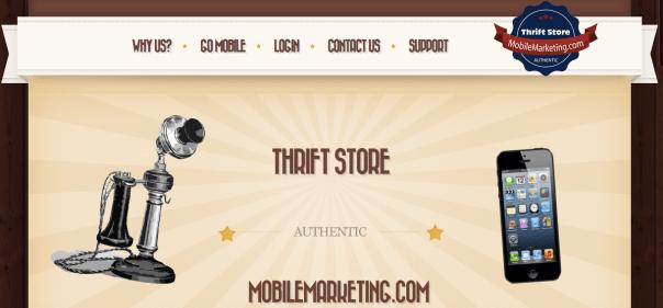 Thrift Store Mobile Marketing