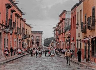 A street in Guanajuato, a pueblo magico in central Mexico