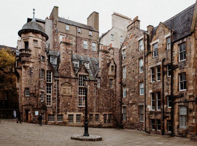 Makar's Court and the Writers' Museum in Edinburgh