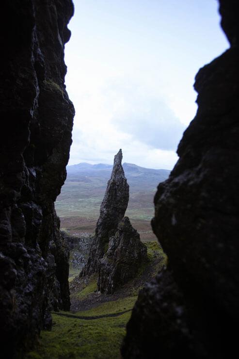 The Needle on the Isle of Skye in Scotland.