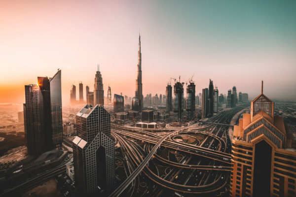 Skyscrapers in Dubai, one of the world's best December destinations.