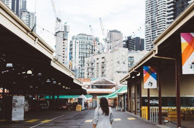 A woman in Queen Victoria Market in Melbourne