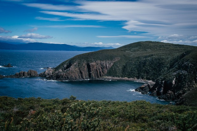 Cliffs on Bruny Island in Tasmania, Australia