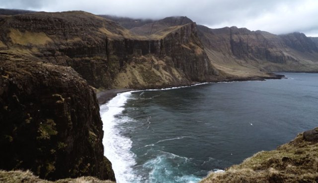 Cliffs on the coast of the Faroe Islands