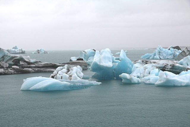 Icebergs melt as a result of climate change.