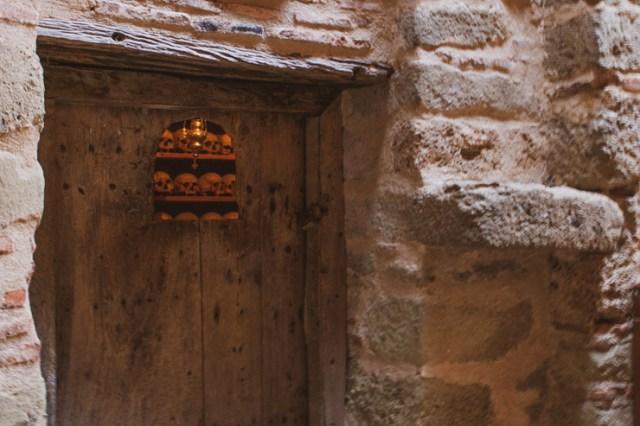 Holy skulls in a Meteora Monastery.