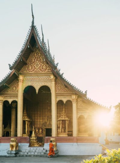 A photo by Jack Crosby of a temple in Laos
