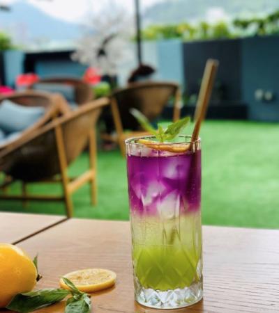 A drink at Komune in Hong Kong