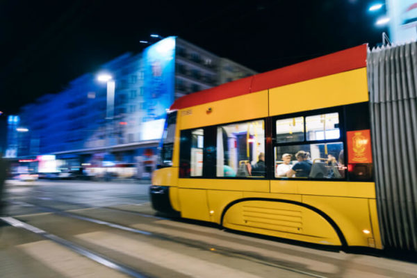 City tram in Krakow, Poland