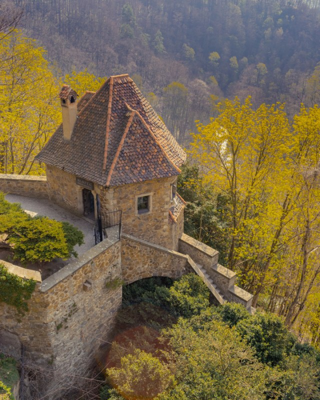 the gatehouse at ksiaz castle in poland