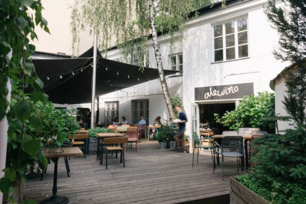 the porch of polish culinary hotspot alewino