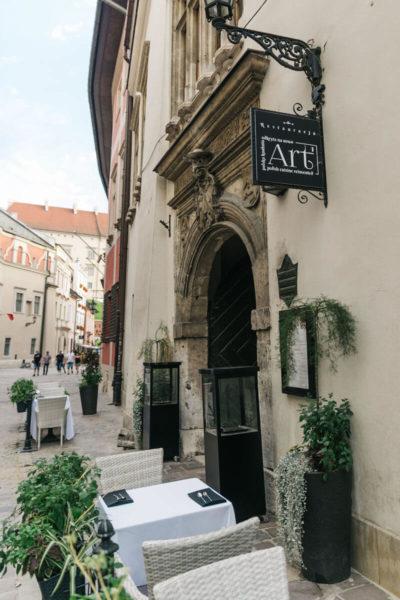 the exterior of art restaurant in krakow