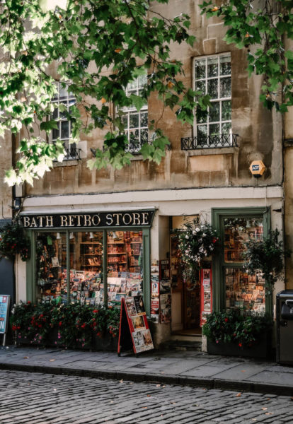a retro store in bath england