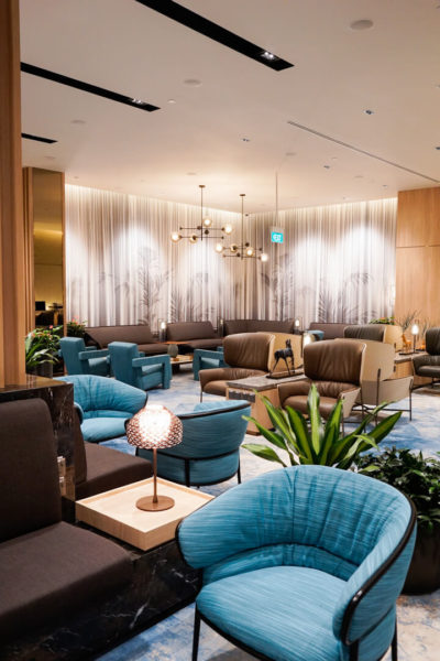 a lounge for the travel community in singapore's changi airport