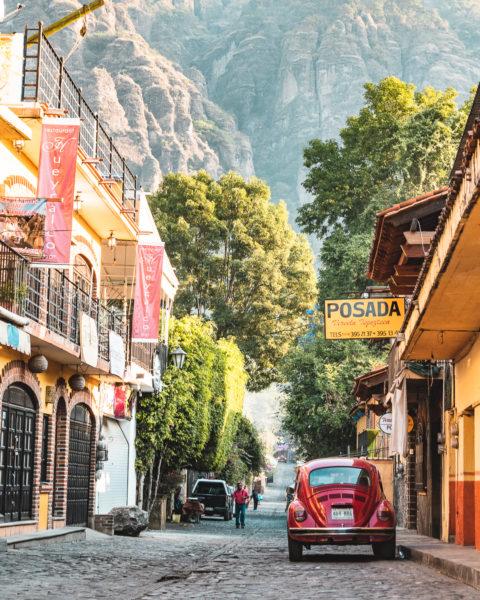 Car in Tepoztlán, Mexico