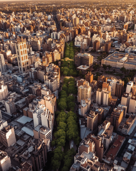 Aerial of Cordoba, Argentina
