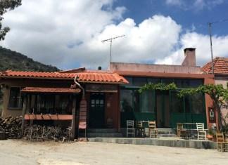 empty restaurant in greece
