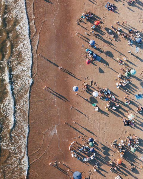 beachgoers and water