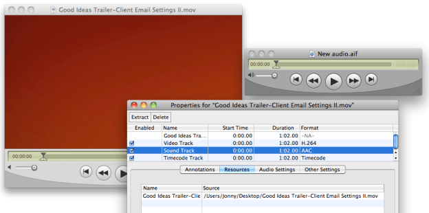 Replace audio in QuickTime 7 Pro