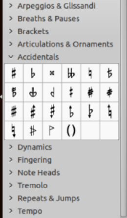 add your accidentals