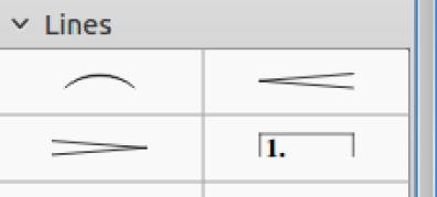 add crescendos (top right) and decrescendos (bottom left)