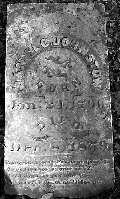 Daniel Calvin Johnston's tombstone