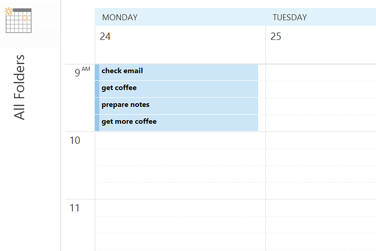How To Create My Own 15 Minute Increment Calendar In