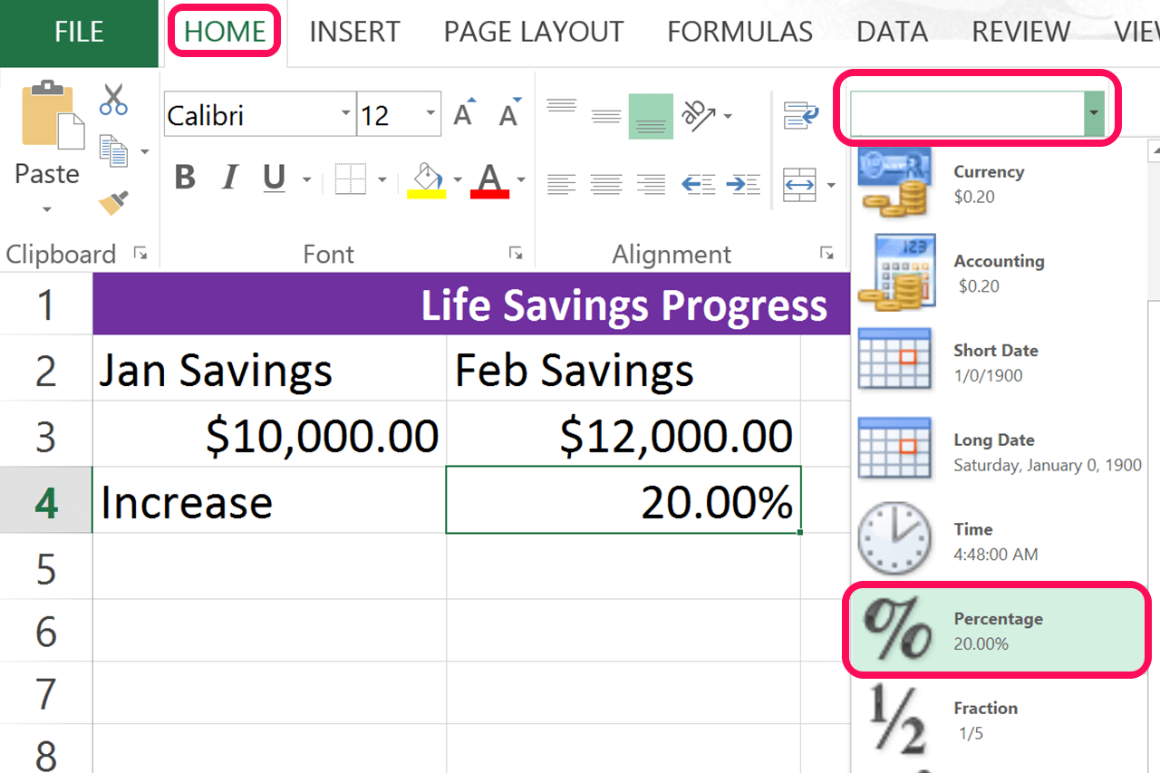 Excel Formula For Percentage Decrease Between Two Numbers