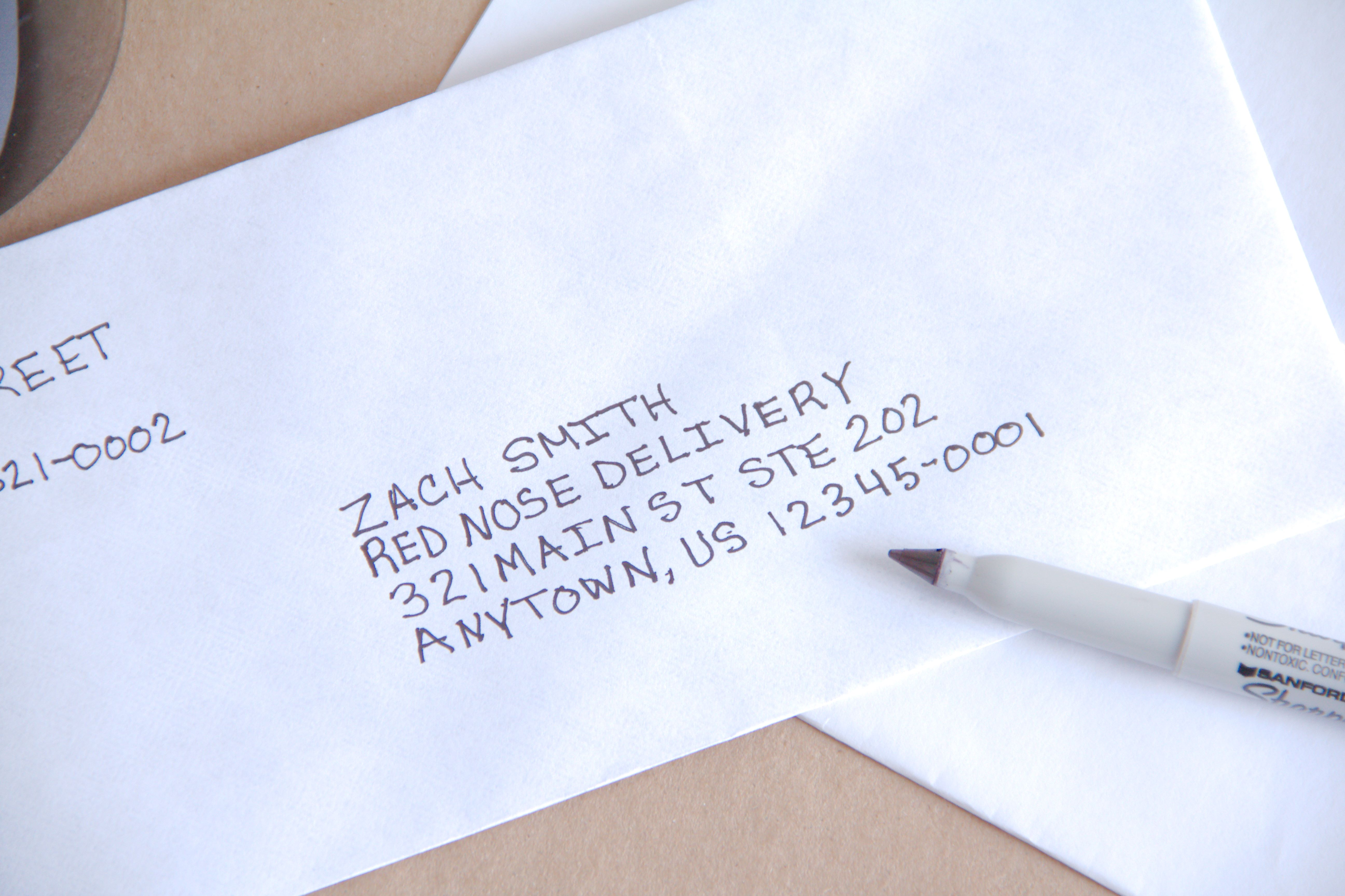 Writing A Letter On Envelope