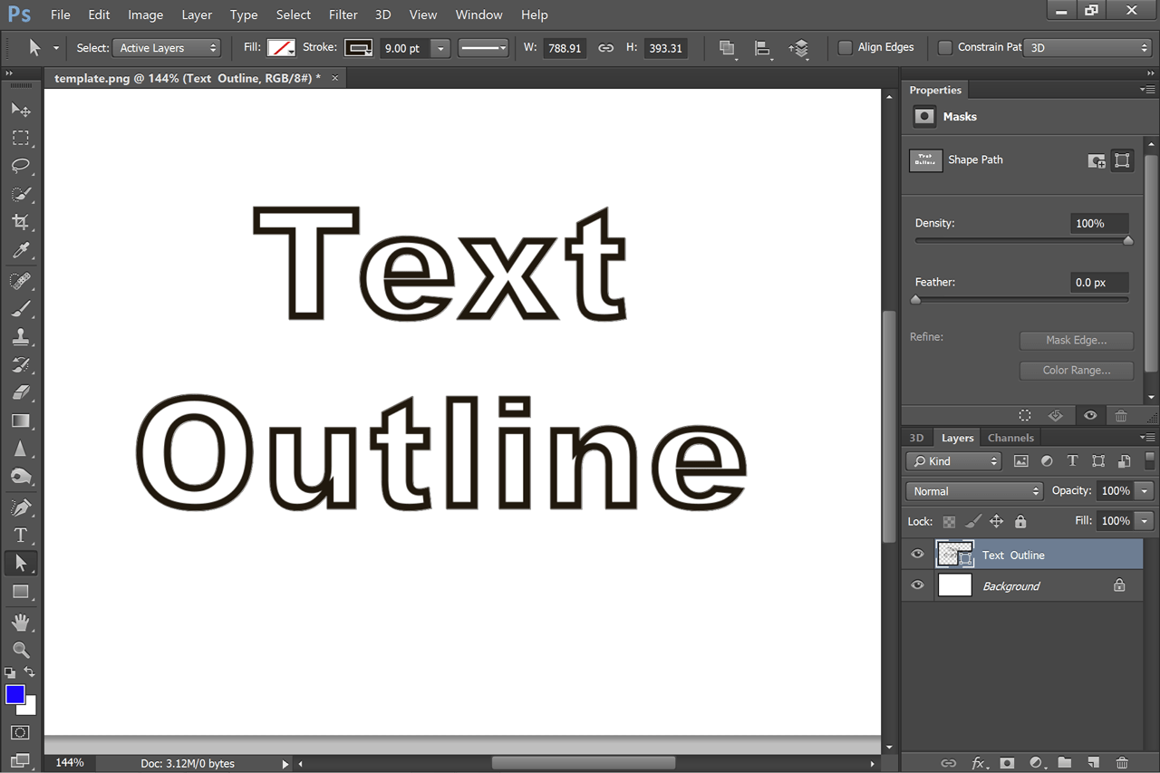 How To Have White Text With A Black Outline In Photoshop