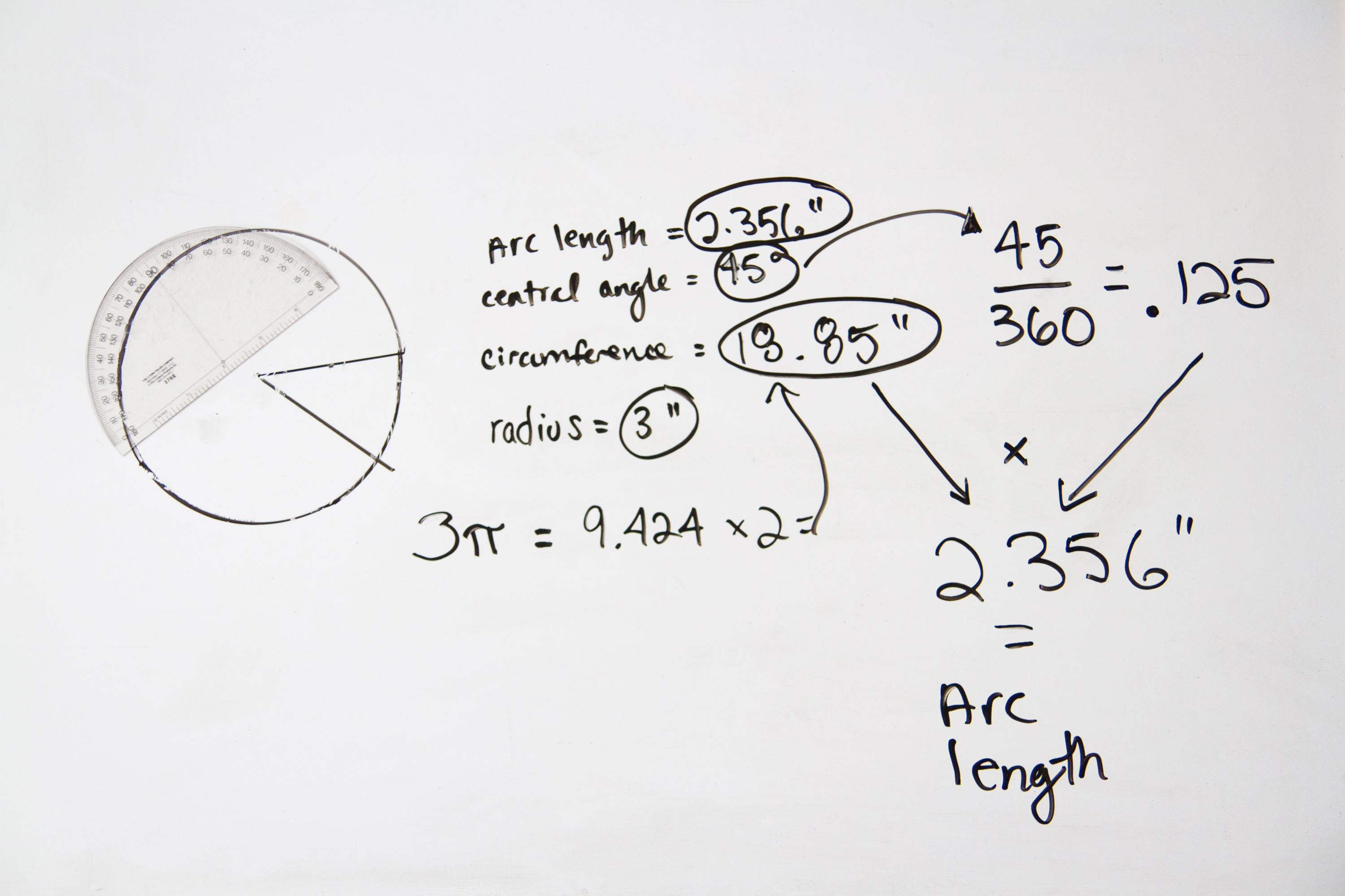 How To Calculate The Arc Length Central Angle And