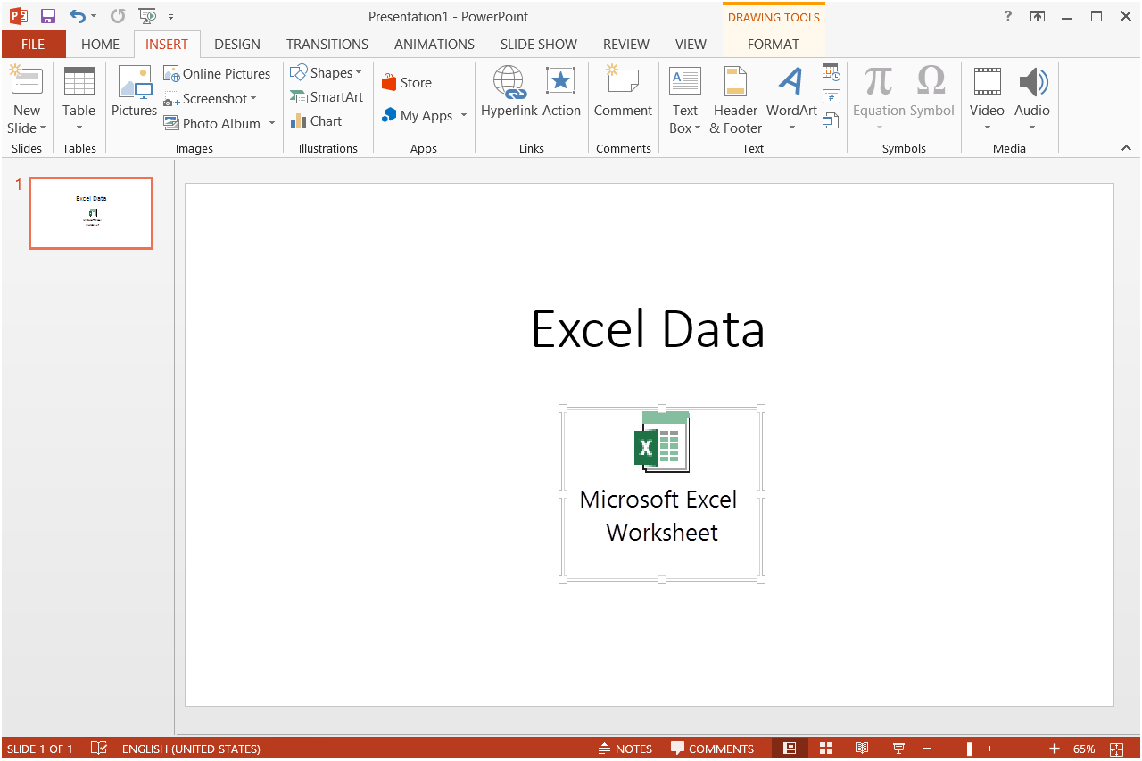 How To Insert An Excel File Into Powerpoint