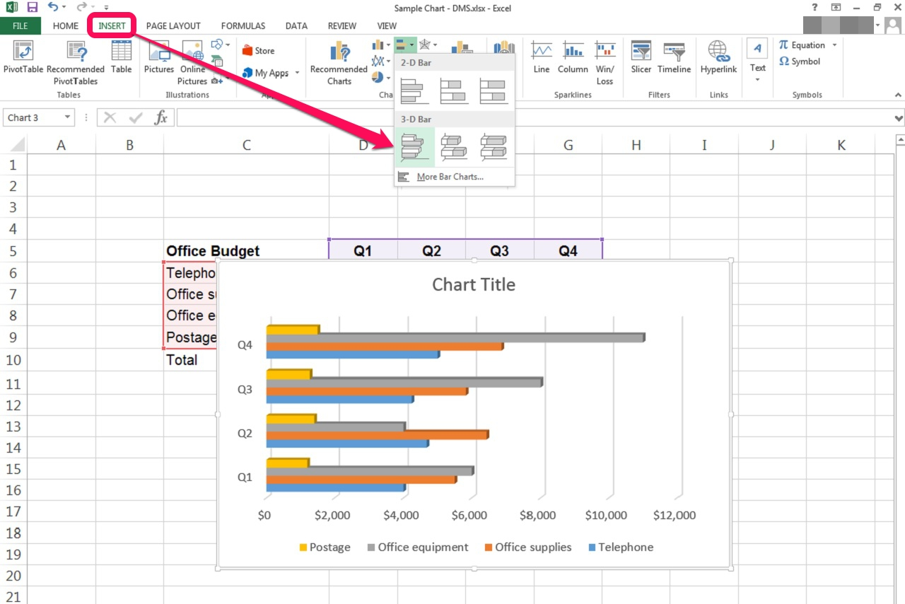 How To Create A Bar Graph In An Excel Spreadsheet