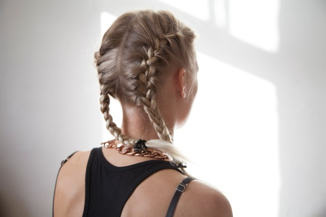 how to make two french braids by yourself | leaftv