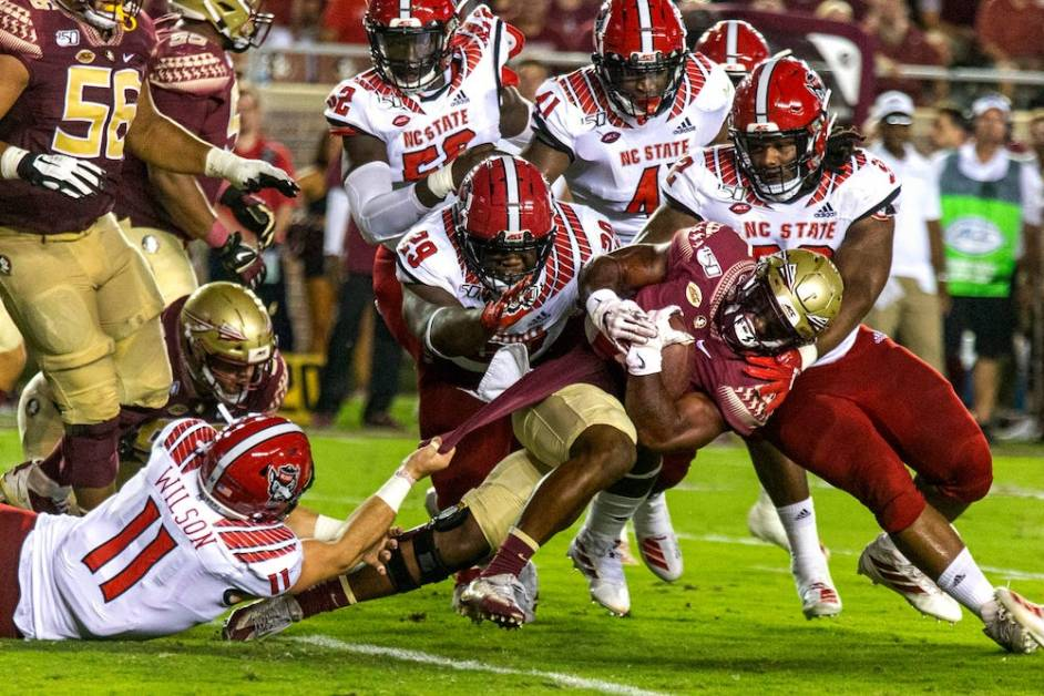 Addazio, Eagles Preparing for N.C. State's Physical Defensive Front