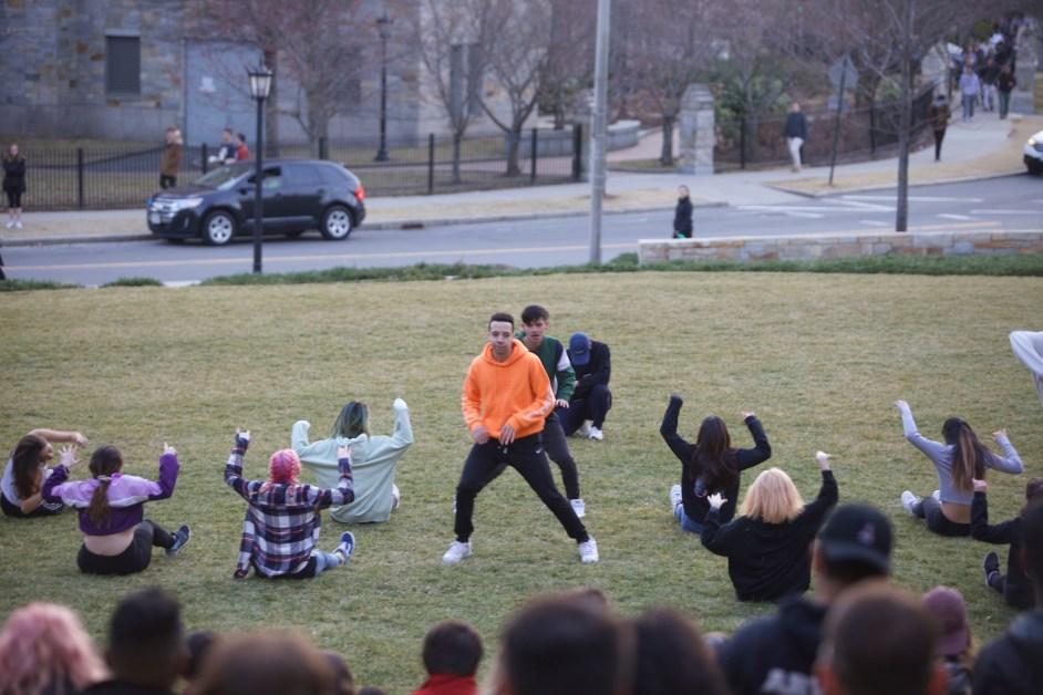 Showdown Dance Groups Hold Impromptu Staging