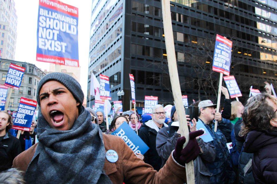 Bernie Sanders Speaks at Boston Common Rally