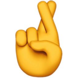 Image result for cross finger emoji