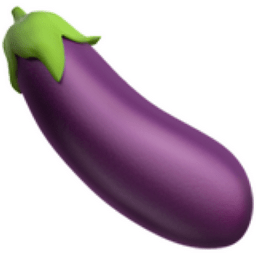 Image result for eggplant émoji